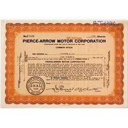 Pierce Arrow Motors Stock
