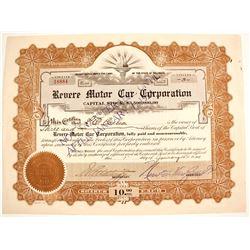 Revere Motor Car Stock