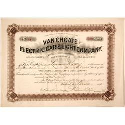 Van Choate Electric Car and Light Stock