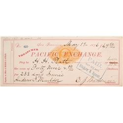 Lucky Baldwin Autographed Check