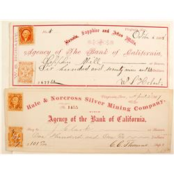 Rare Virginia City Checks (2)