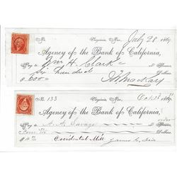 Mackay & Fair Bank of California Checks