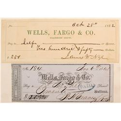 Early Wells Fargo Checks, Autographed