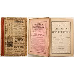 Shole's Atlanta City Directory, 1882