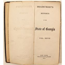 Bradstreet's Reports of the State of Georgia, v 27