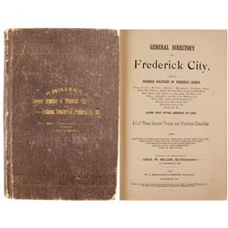 General Directory of Frederick City and a Business Directory of Frederick County