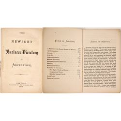 Newport Business Directory and Advertiser, 1870