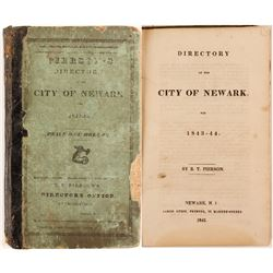 Pierson's Newark City Directory for 1843-44