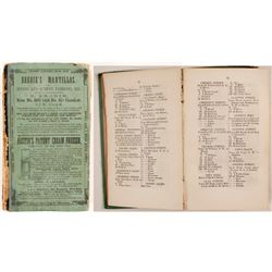 Pierson's Newark City Directory for 1857-8, v23