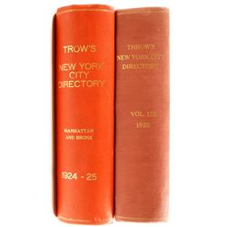 Trow's New York Directories for 1920, 1924