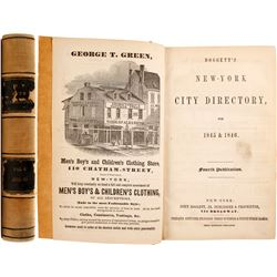 Doggett's New-York City Directory for 1845 & 1846