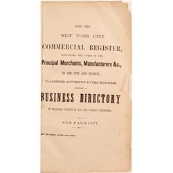 New York City Commercial Register and Business Directory, 1865