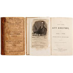 New York City Directory for 1842 and 1843