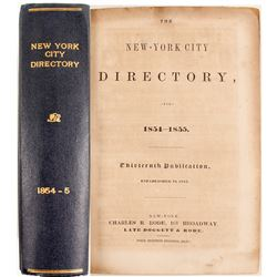 New-York City Directory for 1854-1855