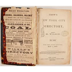 Trow's New York City Directory. 1867