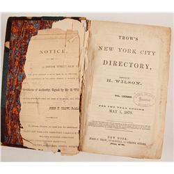 Trow's New York City Directory. 1870