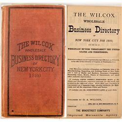 Wilcox Wholesale Business Directory for New York City for 1880