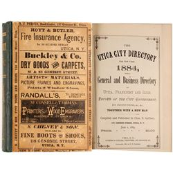 Utica City Directory for the Year 1884