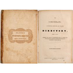 Schaeffer's Advertising Directory for Cincinnati for 1839-40