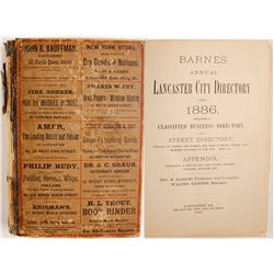 Barnes' Annual Lancaster City Directory for 1886
