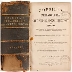 Gopsill's Philadelphia City and Business Directory for 1867-8