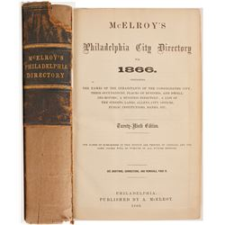 McElroy's Philadelphia City Directory for 1866
