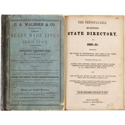 Pennsylvania Business State Directory for 1850-51