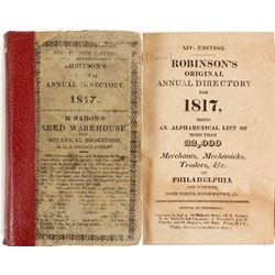 Robinson's Original Annual Directory for Philadelphia, 1817