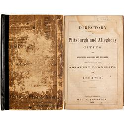 Directory of Pittsburgh and Allegheny Cities, 1864-65