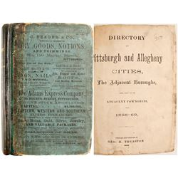 Directory of Pittsburgh and Allegheny Cities, 1868-69