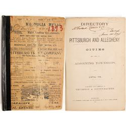 Directory of Pittsburgh and Allegheny Cities, 1874-75