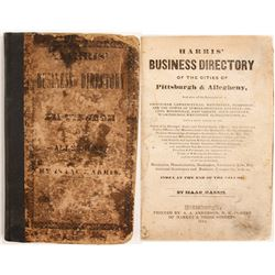 Harris' Business Directory of the Cities of Pittsburgh & Allegheny, 1844