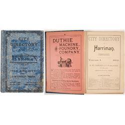 City Directory of Harriman, TN, 1892