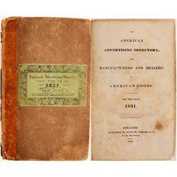 American Advertising Directory, 1831