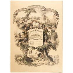 Society of California Pioneers Membership Poster, 1914