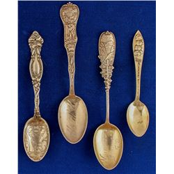 North and South Dakota Silver Spoons (4)