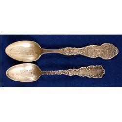Sterling Souvenir Spoons (2)