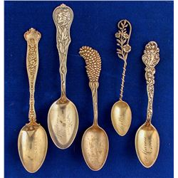 Silver Spoons with Engraved Ladies Names (5)