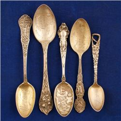 Sterling Silver Souvenir Spoons of the Midwest