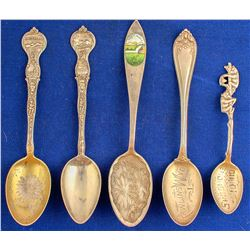 Western Silver Spoons (5)