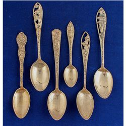 Western Themed Silver Spoons (6)