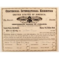 Centennial International Exhibition of the U Sof A stock
