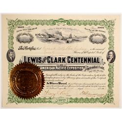 Lewis & Clark Centennial and American Pacific Exposition and Oriental Fair  stock