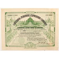 Louisiana Purchase Exposition Co. stock