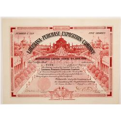 Louisiana Purchase Exposition Co. stock