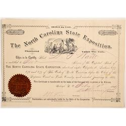North Carolina State Exposition Stock