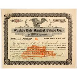 World's Fair Musical Palace Co Stock