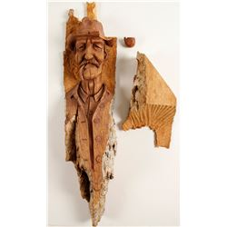 Bob Lindy Wood Carving of a Man