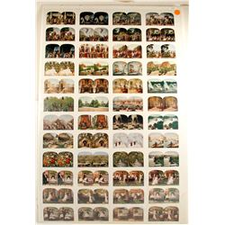 Stereoviews, Uncut Sheet of (48)
