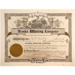 Very Short Lived 'Alaska Whaling Company' Stock